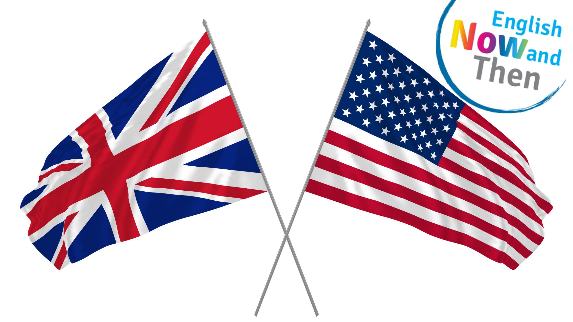 Ameriška in britanska zastava